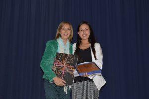 Prorrectora Gloria Gómez y Cecilia Gallegos
