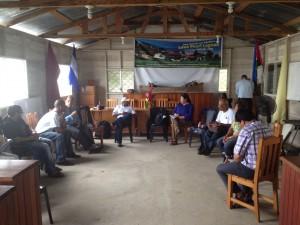 Dirigentes gobierno comunal de laguna de Perla
