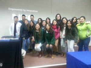 Estudiandes de PEBE y PARVU con Mauricio Pardes y Prof. Loreto Mora
