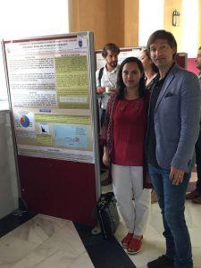 Dr. Juan Aguirre García con Fernanda Bustamante estudiante del Magíster en Salud Pública de la Universidad del Bío-Bío en ICMP10, Córdoba, España 2017.