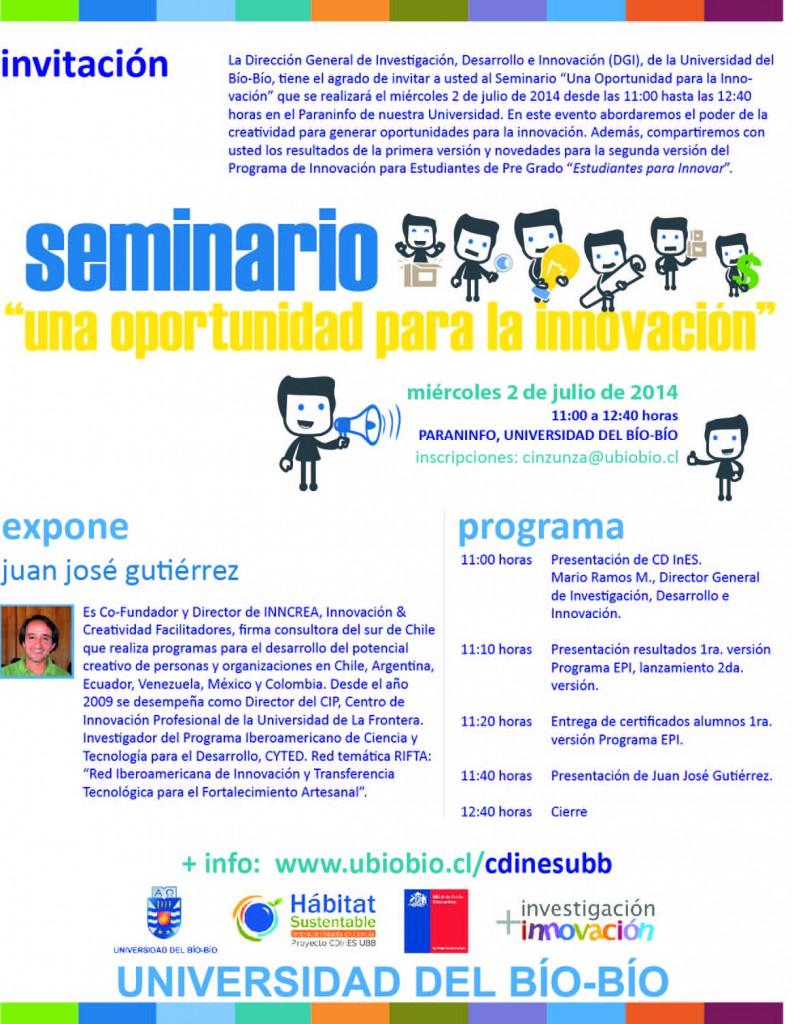 Invitación seminario 2 julio
