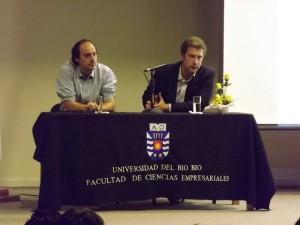 Patricio Eyzaguirre, de Arauco S.A, y Augusto Robert Schwerter, de Forestal Mininco.