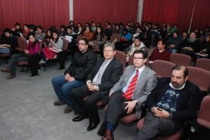 La inauguración del Congreso de Convivencia Estudiantil contó con la presencia del rector Héctor Gaete.