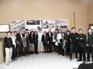 Alumnos y profesores durante la ceremonia de premiación realizada en Penco.