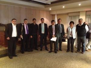 Directivos e investigadores involucrados en el proyecto CD INES UBB