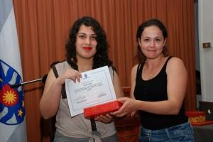 """En la categoría Matemática en nuestro entorno la ganadora fue la alumna de Ingeniería Civil, Patricia Alfaro, con la fotografía """"Espirales infinitos""""."""